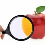 Diet concept. Fruits against cellulite